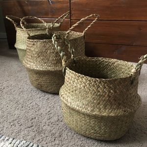 Other - ❤️3 for 88❤️ Set of 3 nesting sea grass baskets
